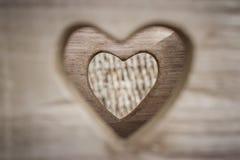 Forma tagliata del cuore Immagini Stock Libere da Diritti