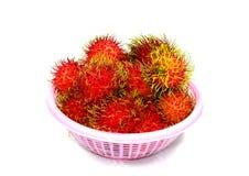 Forma Tailandia de la fruta del Rambutan Fotos de archivo libres de regalías