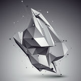 Forma tecnologico espacial, único wirefra poligonal da cor eps8 Foto de Stock Royalty Free