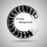 Forma tirada mão do círculo etiqueta, elemento do projeto do logotipo Onda do sumário da escova Símbolo preto do zen do enso Ilus Foto de Stock