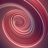 Forma torcida coloreada 3D geométricos abstractos generados por ordenador rinden el ejemplo Foto de archivo