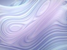 Forma torta bianca 3D geometrici astratti generati da computer rendono l'illustrazione illustrazione di stock