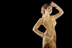 Forma tradicional dourada Fotografia de Stock Royalty Free