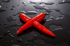 Forma trasversale del peperoncino X rovente Fotografia Stock Libera da Diritti