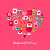 Forma Valentine Day Objects del corazón Fotografía de archivo libre de regalías