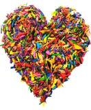 Forma variopinta del cuore isolata Fotografia Stock Libera da Diritti