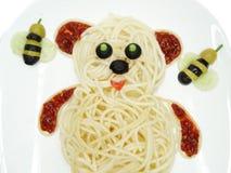 Forma vegetal creativa del oso de la cena de la comida Imagenes de archivo