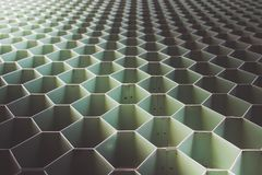 Forma verde do aço do hexágono foto de stock royalty free