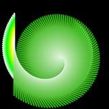 Forma verde e fondo nero Fotografia Stock Libera da Diritti