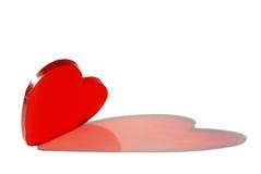 Forma vermelha do coração Imagens de Stock Royalty Free