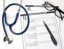 Forma veterinaria de la prescripción Imagenes de archivo