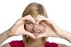 forma wręcza serce kształtującego Obrazy Stock