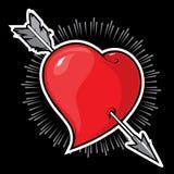 Forma y flecha del corazón stock de ilustración