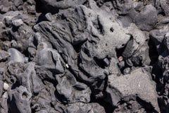 Formación abstracta de playa Islandia del vik de la roca volcánica Imágenes de archivo libres de regalías