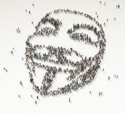 Formación anónima de la muchedumbre Imagenes de archivo