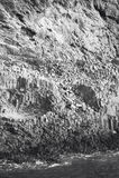 Formación basáltica en la costa costa mediterránea, Almería Spai Imagen de archivo libre de regalías