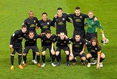 Formación de FC Barcelona fotografía de archivo