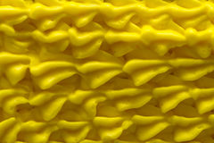 Formación de hielo amarilla Imagen de archivo