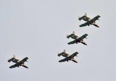 Formación de jetfighters Imágenes de archivo libres de regalías