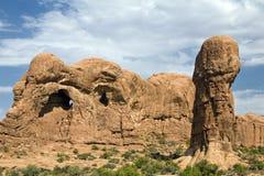 Formación de la maja del parque nacional de los arcos imágenes de archivo libres de regalías