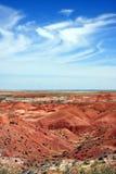 Formación de la nube sobre desierto pintado fotografía de archivo