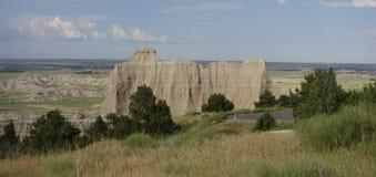Formación de la pared de la roca de los Badlands Foto de archivo