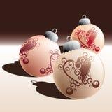 Formación de las bolas de la Navidad stock de ilustración