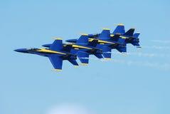 Formación de los ángeles azules Foto de archivo libre de regalías