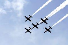 Formación de los aviones Imagen de archivo libre de regalías