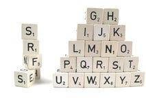 Formación de palabras Foto de archivo libre de regalías