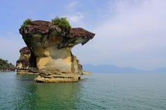 Formación de pila del mar de parque nacional de Bako en Sarawak, Malasia fotografía de archivo