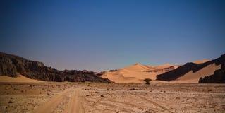 Formación de roca abstracta en Boumediene, parque nacional del nAjjer de Tassili, Argelia Imagenes de archivo