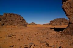 Formación de roca abstracta en Boumediene, parque nacional del nAjjer de Tassili, Argelia imagen de archivo libre de regalías