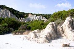 Formación de roca blanca Imagen de archivo