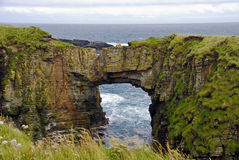 Formación de roca de la costa Fotografía de archivo