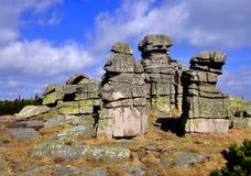 Formación de roca de las piedras de las muchachas Imágenes de archivo libres de regalías