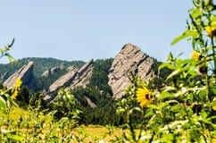 Formación de roca de las planchas Boulder Colorado Imagen de archivo