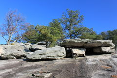 Formación de roca de piedra de la montaña fotografía de archivo libre de regalías