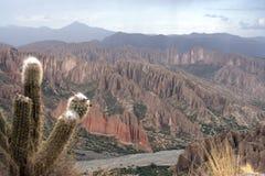 Formación de roca dramática Tupiza, Bolivia. Imagen de archivo