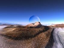 Formación de roca en dimensión de una variable de la cara extranjera Foto de archivo libre de regalías