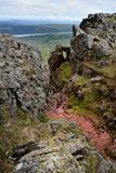 Formación de roca en Dow Crag foto de archivo libre de regalías