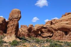 Formación de roca en el parque nacional de los arcos Paisaje, estado fotografía de archivo