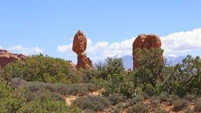 Formación de roca en el parque nacional de los arcos Paisaje, estado fotos de archivo