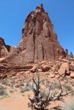 Formación de roca en parque nacional de los arcos Imagenes de archivo