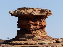 Formación de roca en reyes Canyon, Australia foto de archivo