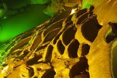Formación de roca en una cueva imágenes de archivo libres de regalías