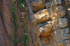 Formación de roca en una mina fotografía de archivo