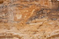 Formación de roca erosionada en los Badlands de Castle Rock fotografía de archivo libre de regalías