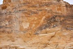 Formación de roca erosionada en los Badlands de Castle Rock fotos de archivo