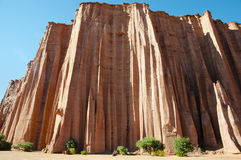 Formación de roca gótica de la catedral - parque nacional de Talampaya - la Argentina Imagen de archivo